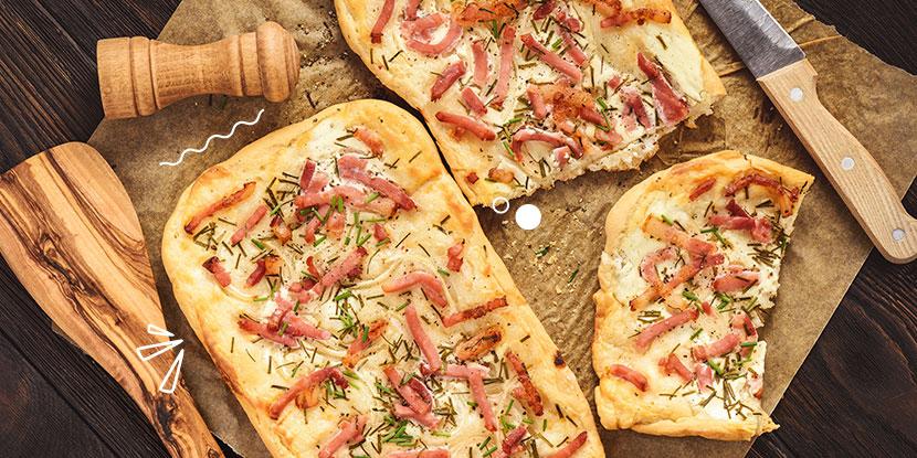 ¿Algo delicioso?: Hagamos pizza carbonara